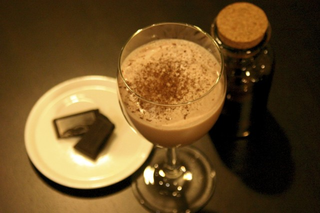 alexander, cocktail, cacao, latte