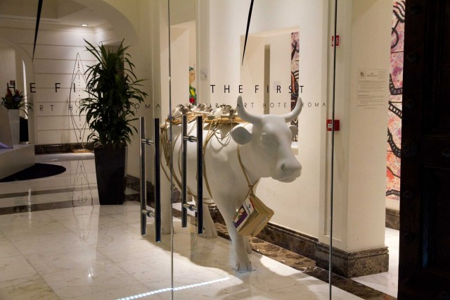 ingresso the first luxury hotel all'oro Roma