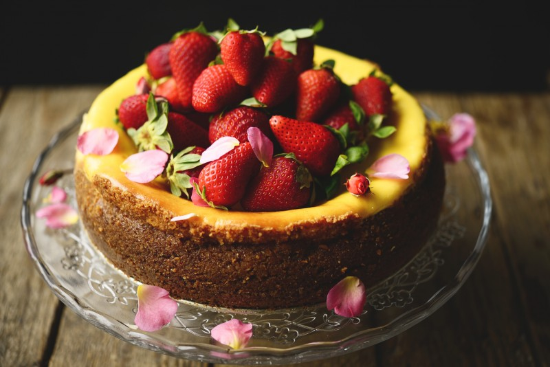 Cheesecake-fragole