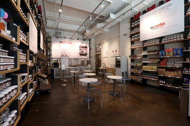 Nutella bar, Eataly New York