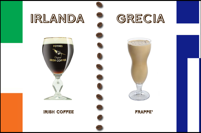 irlanda, grecia, caffè, frappè, irish coffee