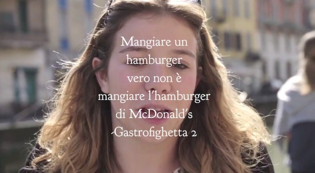 McDonald's Single Burger, gastrofighetta