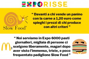 Slow Food contro McDonald's a Expo 2015
