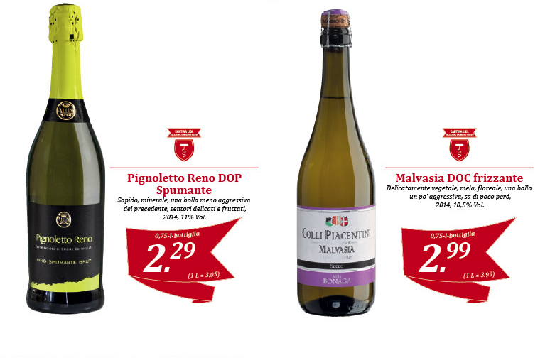 Cantina Lidl, Gambero Rosso