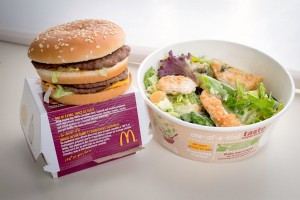 McDonald's insalata al kale e il Double Cheeseburger