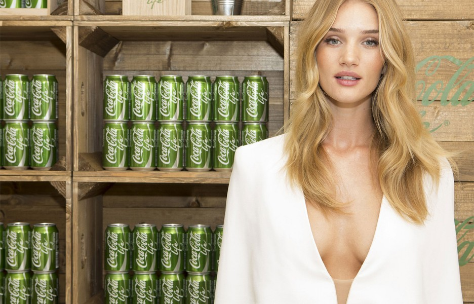 coca cola Rosie Huntington-Whiteley