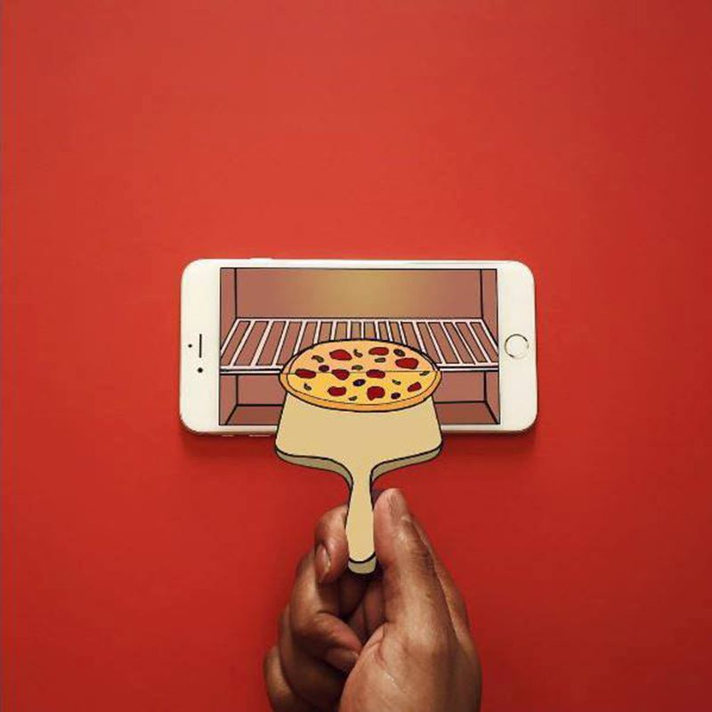 iphone, pizza, Anshuman Ghosh