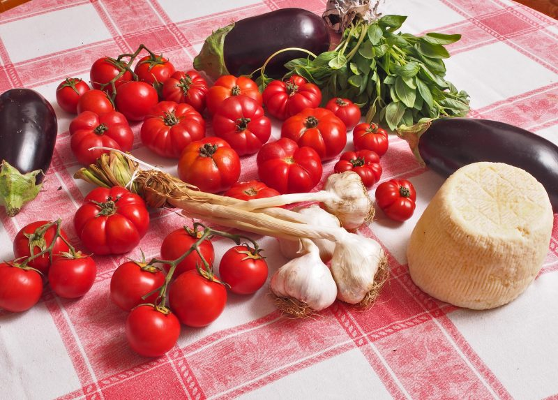 Ingredienti pasta alla Norma