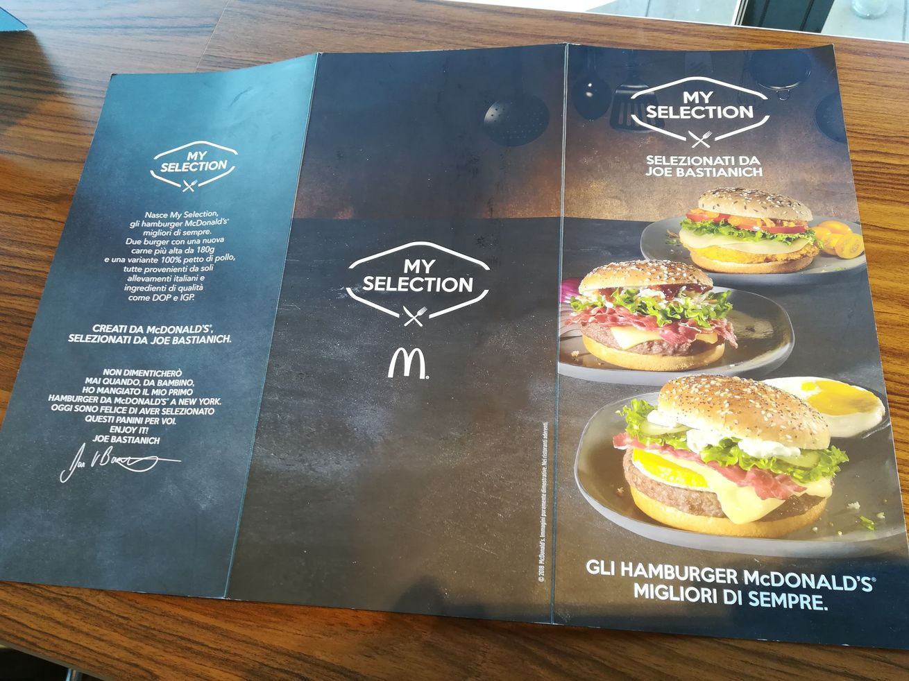 mc donalds bastianich menu