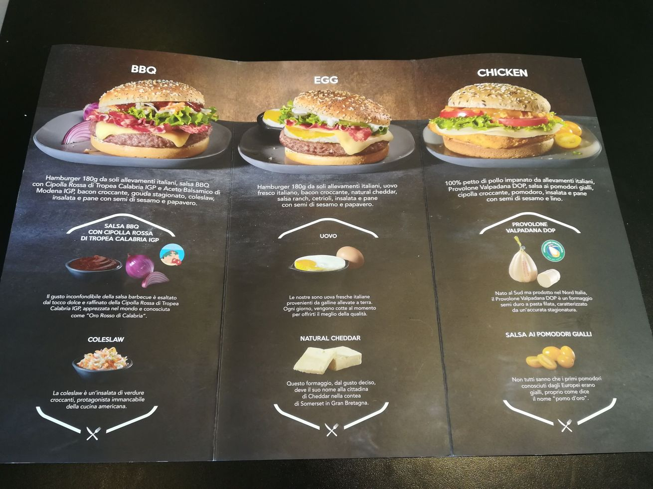 mc donalds bastianich menu 2