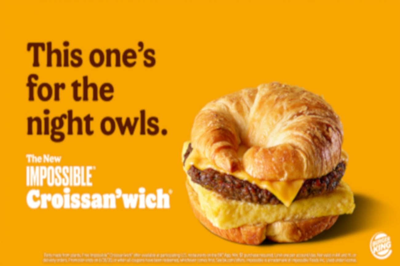 impossible croissant burger king