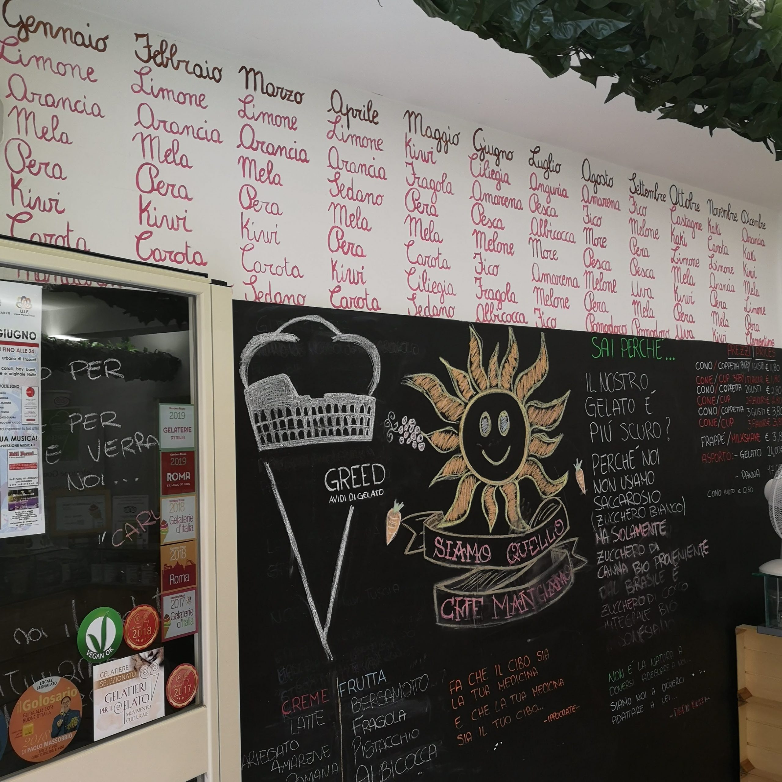 gelateria Greed; Frascati