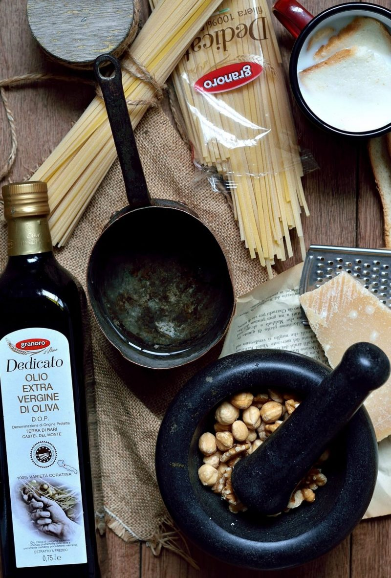 linguine noci e nocciole ingredienti