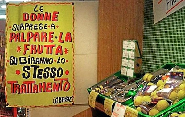 cartello sessita, supermercato