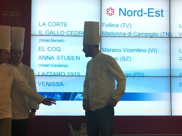 Nuove stelle Michelin 2013, nord-est
